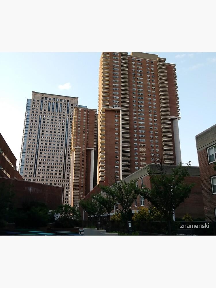 Tower Block, High-rise building, New York, Manhattan, Downtown  by znamenski
