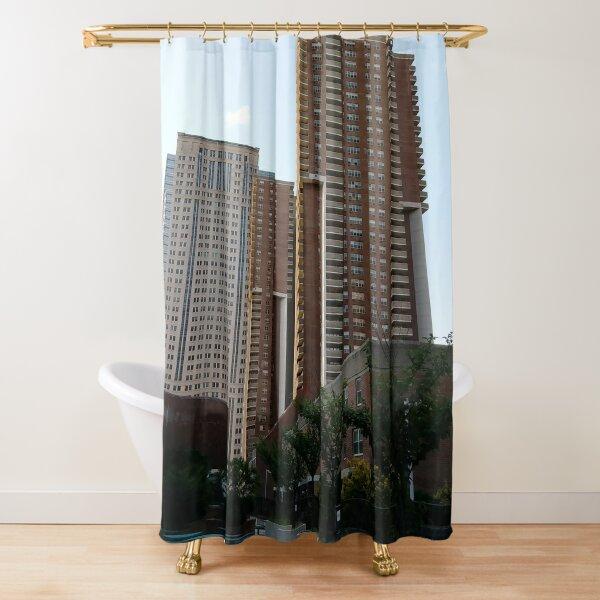 Tower Block, High-rise building, New York, Manhattan, Downtown  Shower Curtain