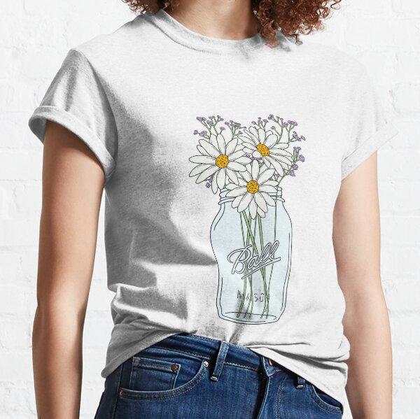 Mason Jar Daisies Classic T-Shirt