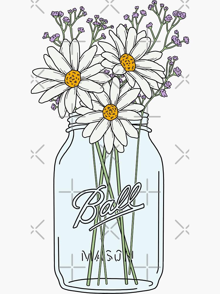 Mason Jar Daisies by jamiemaher15