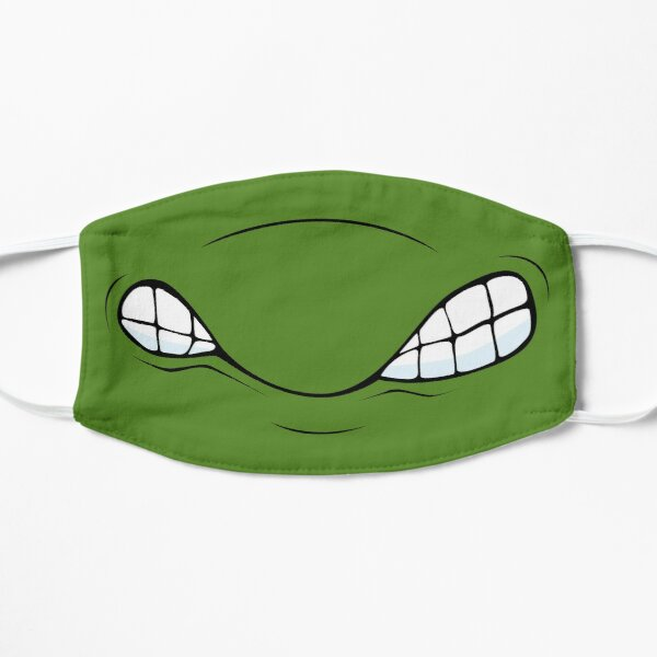 Super Action Turtle Grin Flat Mask