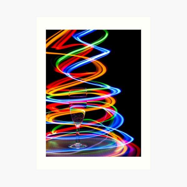 Neon Trails Art Print