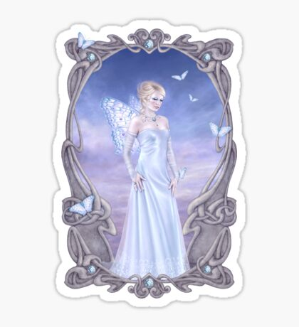 Diamond Birthstone Fairy Sticker