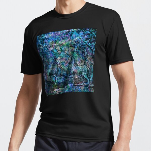 """Alchemical Secrets - """"The Stag And The Unicorn"""" Active T-Shirt"""