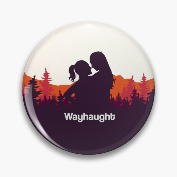 WayHaught Forest Sunset Silhouette Pin