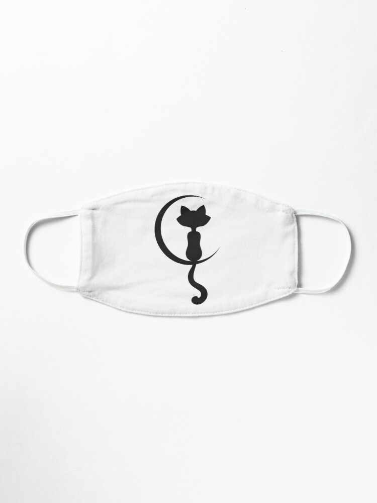 Alternate view of Black Cat on the Moon Mask