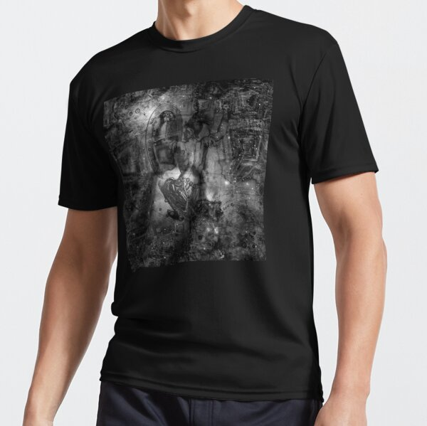 When The Stars Are Right - M78 in Orion (b&w version) Active T-Shirt