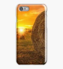 Hay Bale Sunrise iPhone Case/Skin