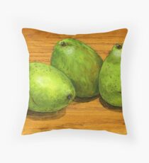 handle with care pears Throw Pillow