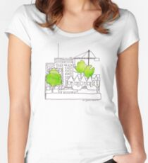 City town Women's Fitted Scoop T-Shirt