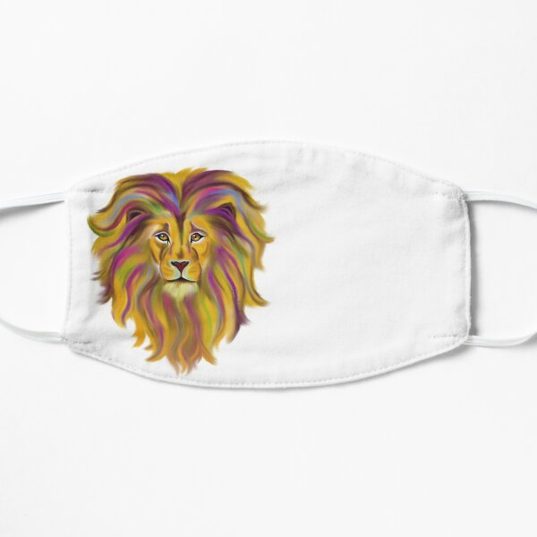 Colorful Lion Face Mask   Flat Mask