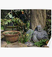 Chilling Buddha Poster