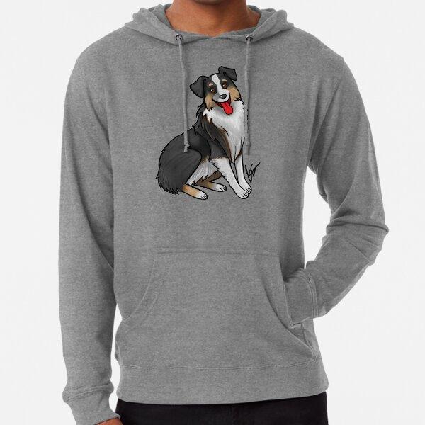 Australian Shepherd - Black Tri-Color Lightweight Hoodie