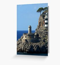 Lighthouse, Puerto de Soller, Mallorca Greeting Card