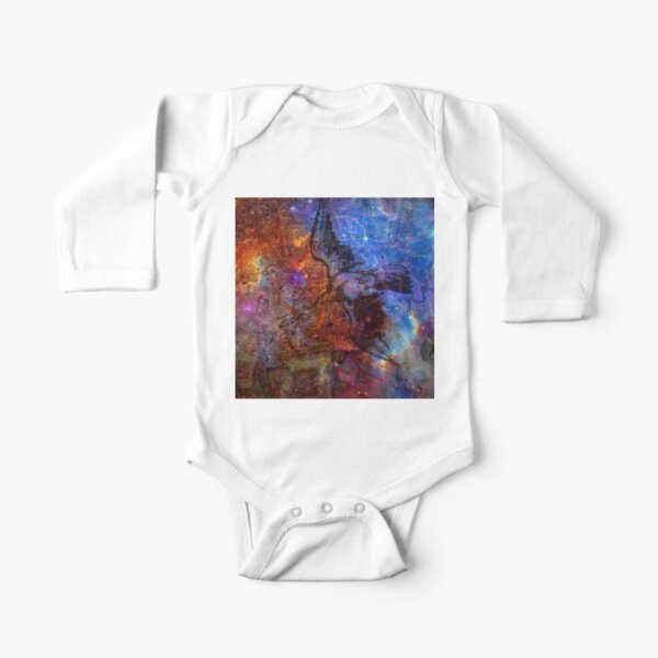 When The Stars Are Right - The North America Nebula in Cygnus Long Sleeve Baby One-Piece
