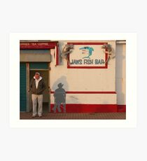 Jaws Fish Bar, Brighton Art Print