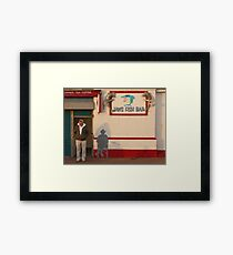 Jaws Fish Bar, Brighton Framed Print