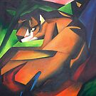 Tiger After Franz Marc by taiche