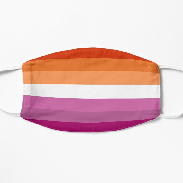 Orange - Magenta Lines // Lesbian Pride Flag // Butch Femme Pride Flag Mask