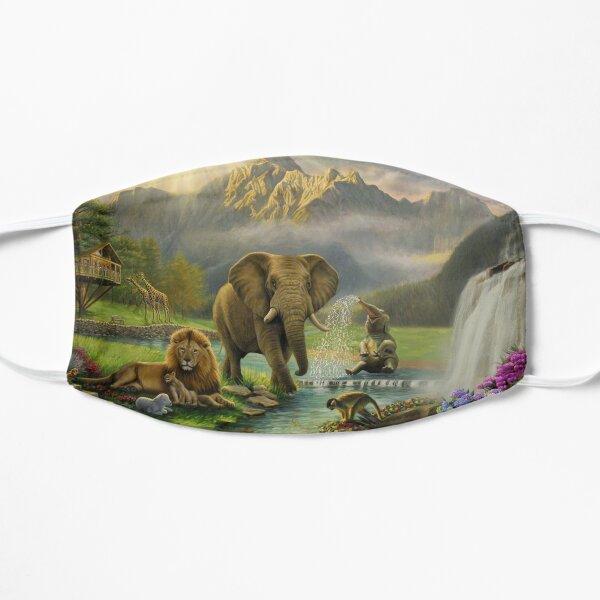 Animals in Paradise Flat Mask