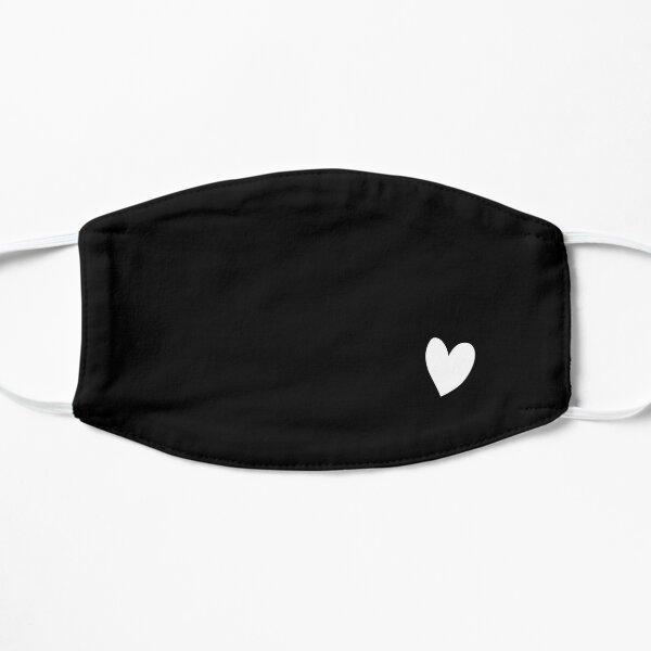 Un pequeño y lindo corazón blanco único Mascarilla plana