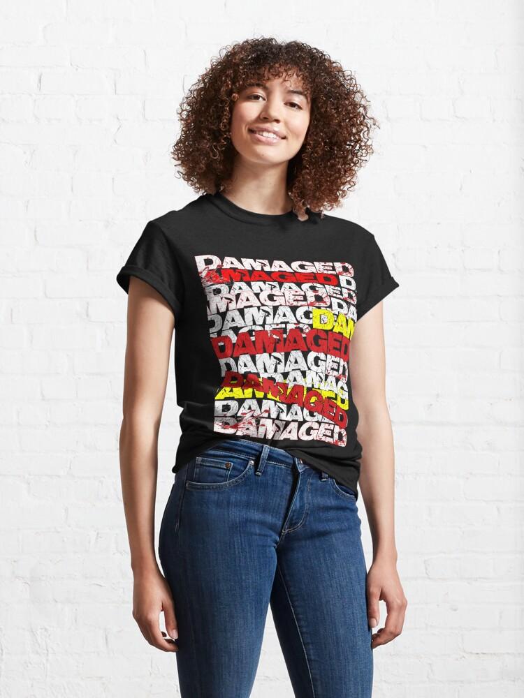 Alternate view of Damaged Design  Classic T-Shirt