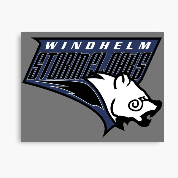 Windhelm Stormcloaks Basketball Logo Canvas Print
