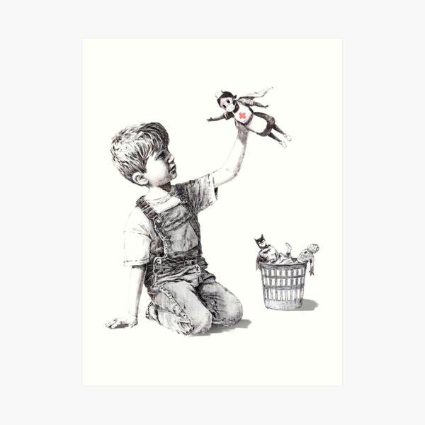 """Banksy- """"Game Changer"""", infirmière super héros Impression artistique"""