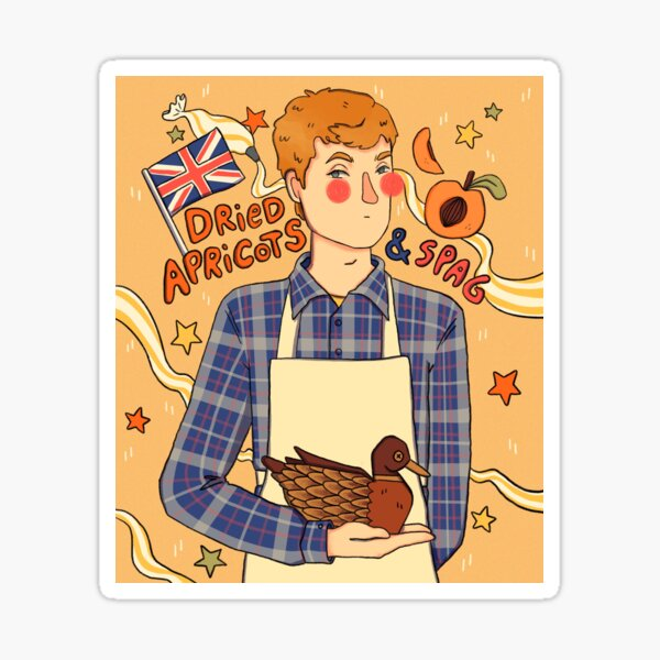 Dried Apricots & Spag James Acaster Sticker