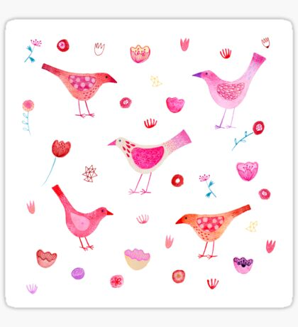 Birds and Blossoms Sticker