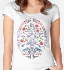 Turkish Delight Ceramic Tile Boho Pattern Women's Fitted Scoop T-Shirt
