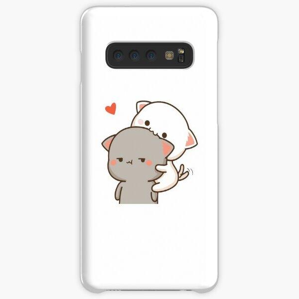 Peach Eating Goma Mochi Cat Nom Samsung Galaxy Snap Case