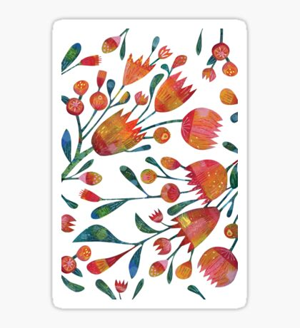 Buds and Flowers Sticker