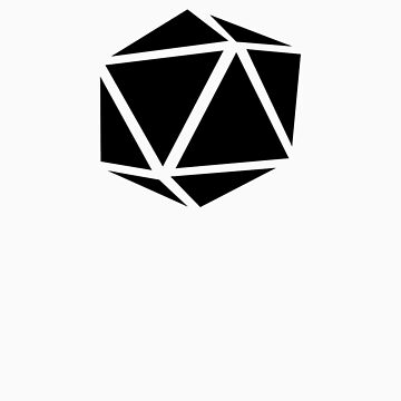 d20 (black) by EldrichGaiman