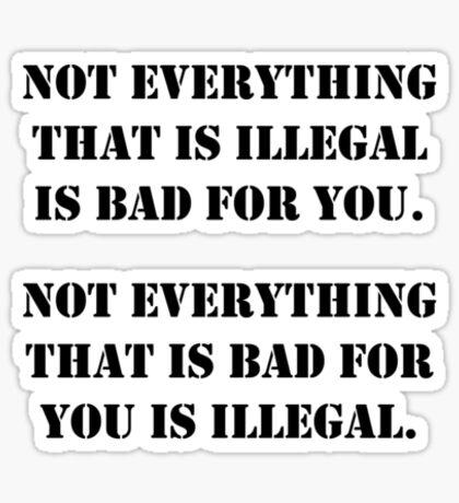 Legality Sticker