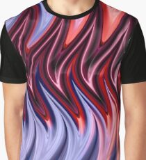 Abstract Flames Graphic T-Shirt