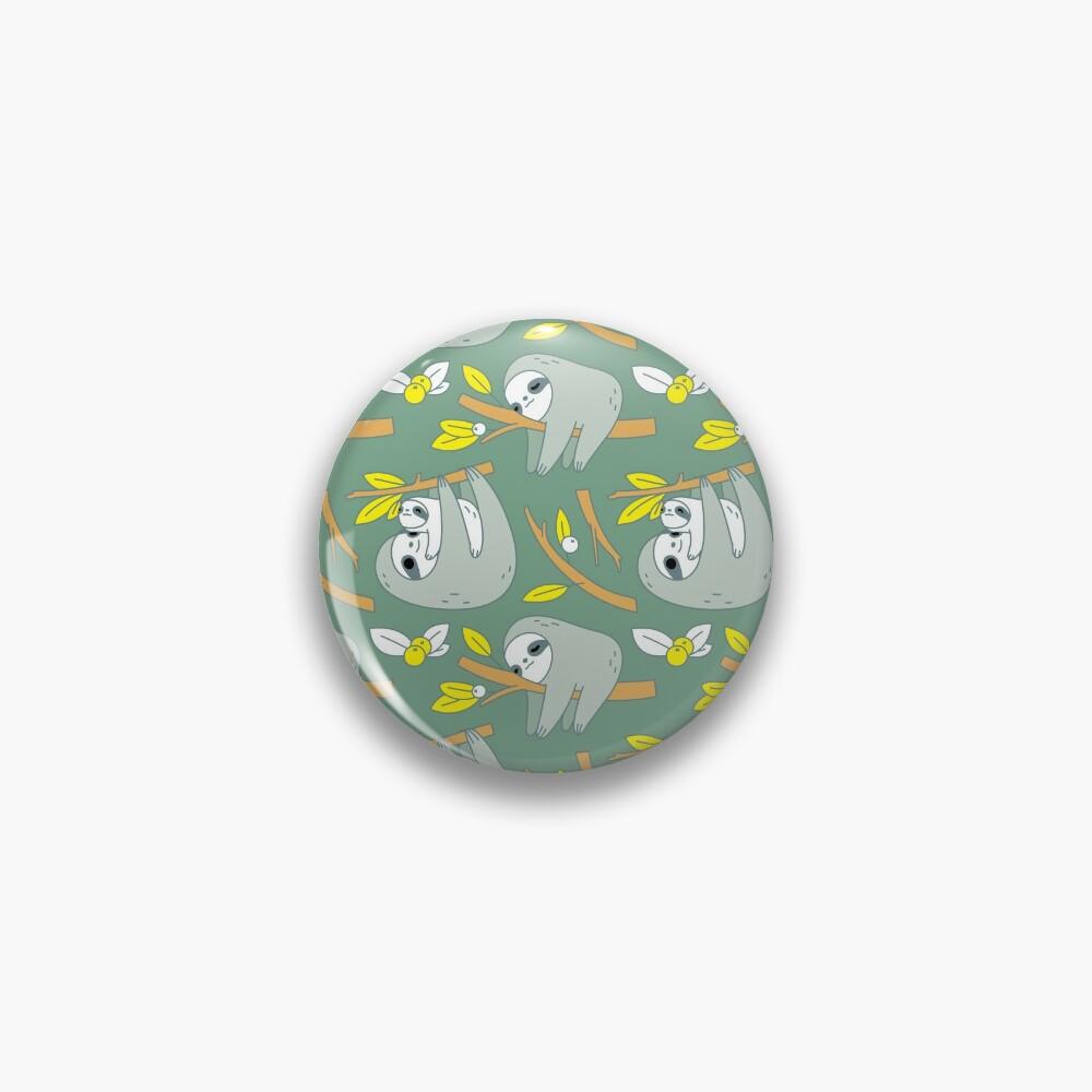 Sloth Pattern in Green  Pin