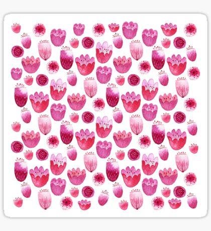 Fancy Pink Flowers Sticker