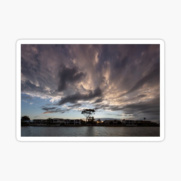 Dramatic Sunset  at Delfin Island West Lakes Sticker