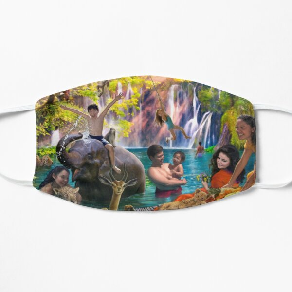 Lagoon Paradise Flat Mask