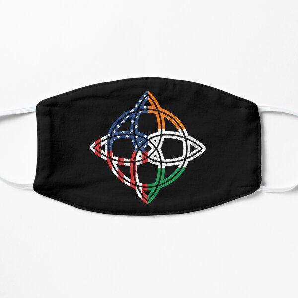 Irish American Flag Ireland Celtic Knot Compass Rose Flat Mask