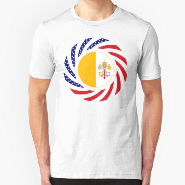 Catholic Murican Patriot Flag Series Slim Fit T-Shirt