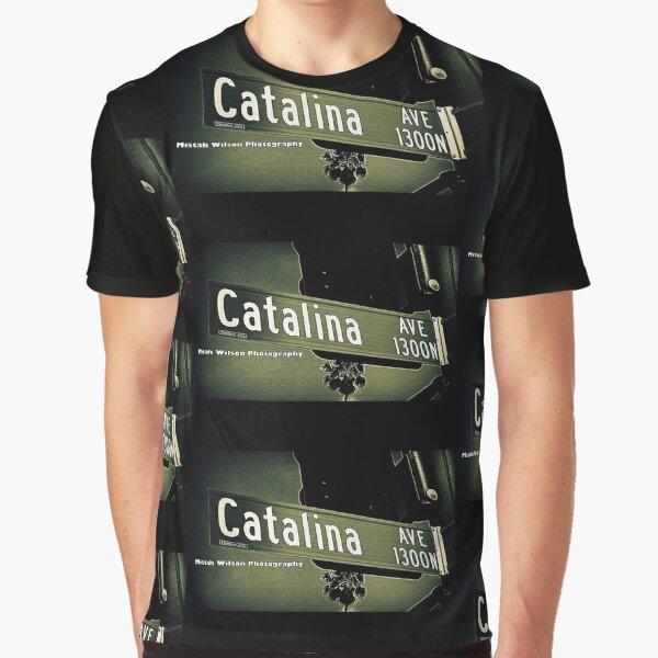 1300 North Catalina Avenue, Pasadena, CA Street Sign by MWP Graphic T-Shirt
