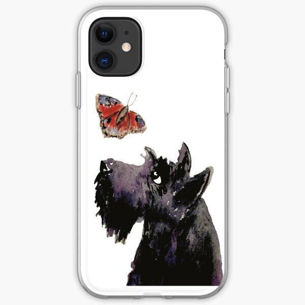 Scottie Dog & Butterfly iPhone Soft Case