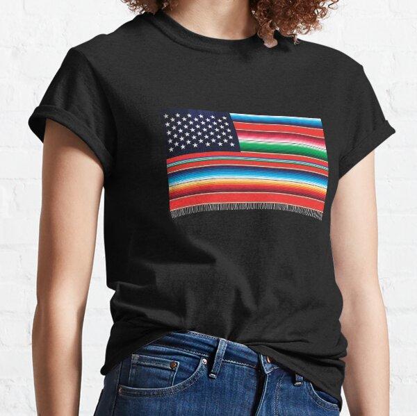Bandera de manta de sarape americano Camiseta clásica