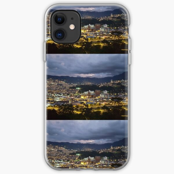 Citylights at night iPhone Soft Case