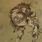 Fishy Da Vinci Sketch by Ellen Marcus