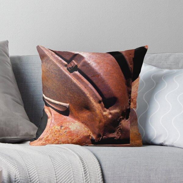 RUSTY CONVOLUTIONS Throw Pillow