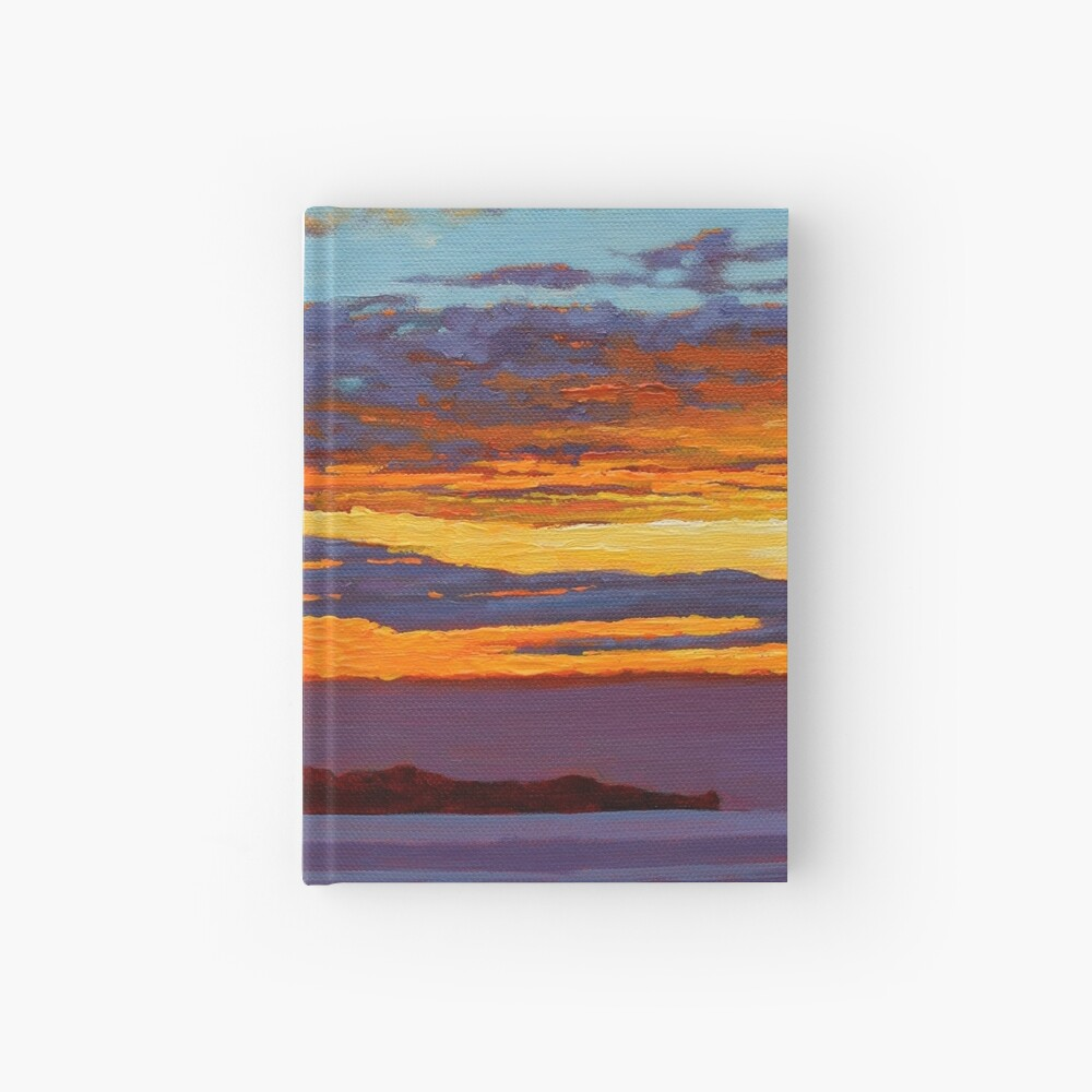 Clare Island Sunset, Clew Bay, County Mayo, Ireland Hardcover Journal