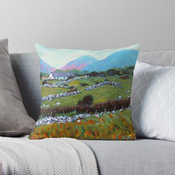 Connemara Cottage, County Galway, Ireland Throw Pillow